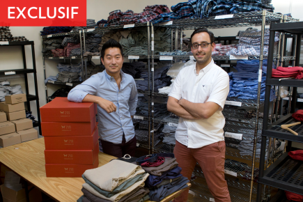 Les cofondateurs de Frank & Oak, Ethan Song... (Photo Robert Skinner, La Presse)