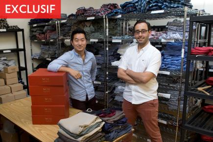 Les cofondateurs de Frank & Oak, Ethan Song... (Photo Robert Skinner, La Presse)
