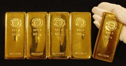 Le cours de l'or a subi en milieu de semaine une chute-éclair de 25$, dont il a... (PHOTO REUTERS)