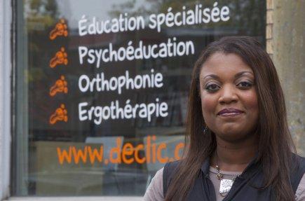 Cadleen Désir, fondatrice de Déclic, offre des services... (Photo Ivanoh Demers, La Presse)