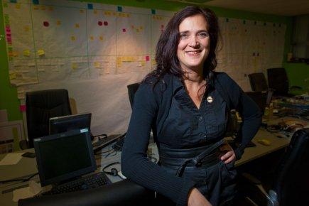 Sandrine Faust, directrice générale d'Allô prof.... (Photo André PIchette, La Presse)