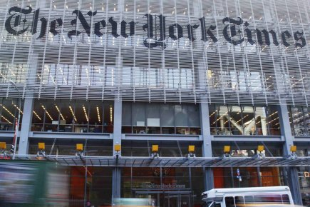 Les membres du syndicat des journalistes du New York Times ont... (Photo: Reuters)