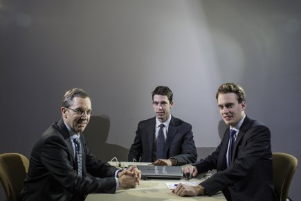 Philippe Hamel, son fils Philippe et Amaury Dada.... (Photo Edouard Plante-Fréchette, La Presse)