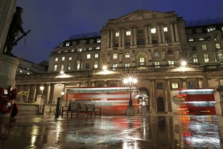 La Banque d'Angleterre à Londres... (Photo Reuters)