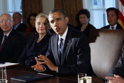 Barack Obama lors d'une réunion de cabinet, mercredi,... (Photo: Reuters)