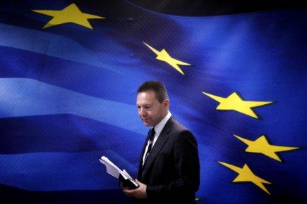 Le ministre des Finances de la Grèce,Yannis Stournaras...