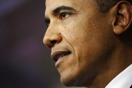 Dans son discours radio et web diffusé samedi,... (Photo Jonathan Ernst, Reuters)