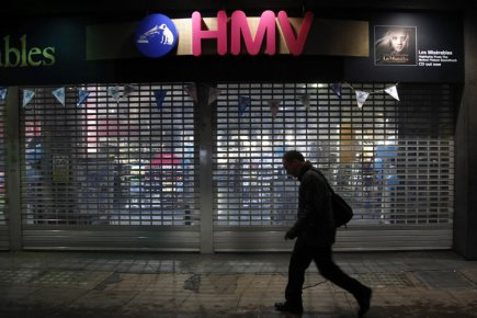 Le détaillant britannique HMV a annoncé son intention de se placer dans une... (Photo: Reuters)