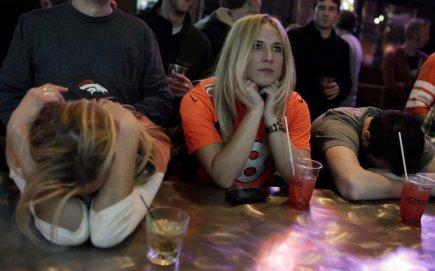 L'élimination des Broncos de Denver n'a pas aider...
