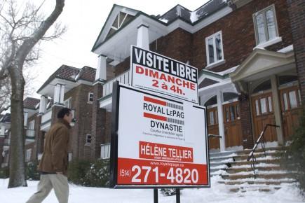 Le prix médian des propriétés s'élevait à 287300$... (Photo Robert Skinner, archives La Presse)