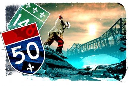 L'Outaouais, destination de ski alpin? C'est ce que vise Tourisme Outaouais en... (Illustration Daniel Riopel La Presse)