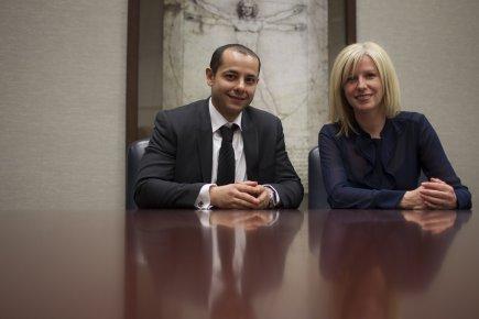 Amierouch Sellam, nouvel employé de la Standard Life,... (Photo Olivier Pontbriand, La Presse)