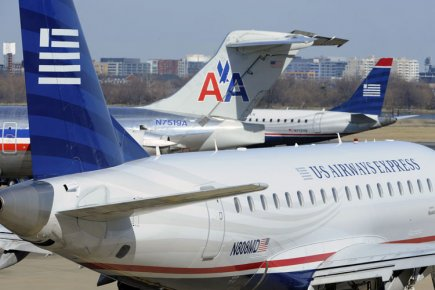 American Airlines (AAMRQ) et US Airways (LCC)... (Photo: Reuters)