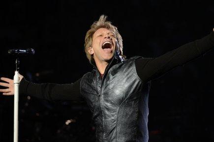 Bon Jovi, sur les planches du Centre Bell.... (Photo Bernard Brault, La Presse)