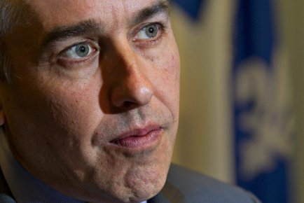 Nicolas Marceau, ministre des Finances en entrevue à... (PHOTO OLIVIER JEAN, LA PRESSE)