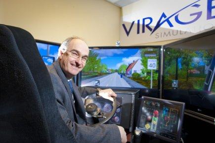 Rémi Quimper, président de Virage Simulation.... (Photo : André Pichette, La Presse)