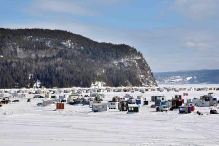 Pêche blanche sur le Saguenay.... (Archives Le Quotidien)