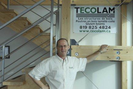 Les structures de bois lamellé-collé représentent un secteur... (Photo fournie par Tecolam)