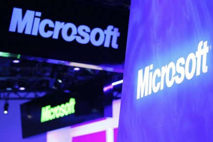 L'action Microsoft (MSFT) gagnait plus de 4% lundi matin après... (Photo Reuters)