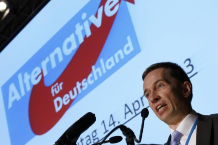 Bernd Lucke, co-fondateur et porte-parole du parti «Alternative... (Photo : Michael Sohn, AP)