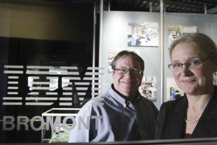 François Nadeau et Claire Langan, del'usine IBM de... (Photo Stéphane Champagne, collaboration spéciale)