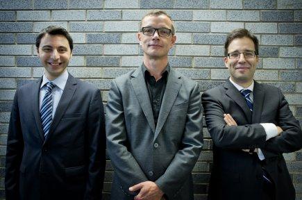 (De gauche à droite) Fabrice Salomé,Damien Silès etRobertBeaudry,... (Photo Marco Campanozzi, La Presse)