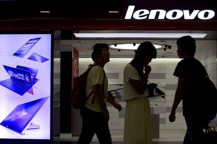 Le chinois Lenovo est le premier fabricant de... (PHOTO Andy Wong, ASSOCIATED PRESS)