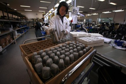 La production manufacturière en Chine s'est renforcée en août par rapport à... (PHOTO DAVID GRAY, REUTERS)
