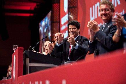 Les Travailleurs et travailleuses canadien(ne)s de l'automobile (TCA)... (Photo Galit Rodan, La Presse Canadienne)