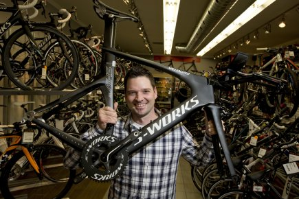Marc-André Lebeau, président et copropriétaire de Bicycles Quilicot,... (Photo Alain Roberge, La Presse)
