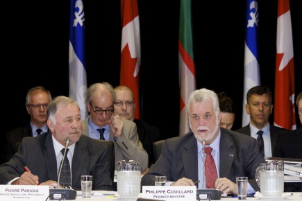 Le premier ministre Philippe Couillard lors du dernier... ((Photo Le Quotidien, René Bouchard))