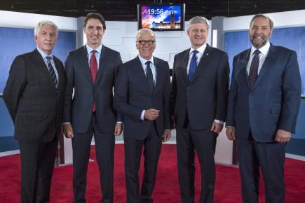 Gilles Duceppe, Justin Trudeau, Pierre Bruneau, Stephen Harper... (Joël Lemay, Agence QMI)