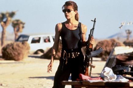 Sarah Connor, dans Terminator 2... (Photo tirée d'Internet)