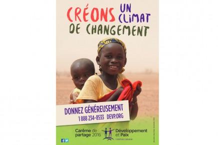 La campagne 2016 de Développement et Paix.... (Photo courtoisie)