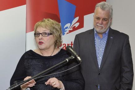 Francyne T. Gobeil, avec le chef du Parti... (Archives Le Quotidien, Rocket Lavoie)