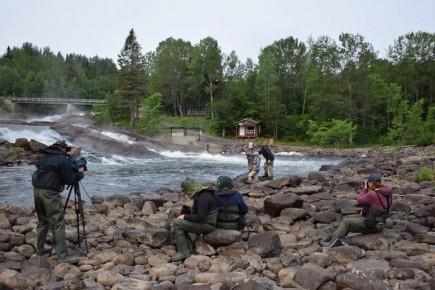 L'émission Elles pêchent sur la rivière Petit-Saguenay a... (Photo courtoisie)