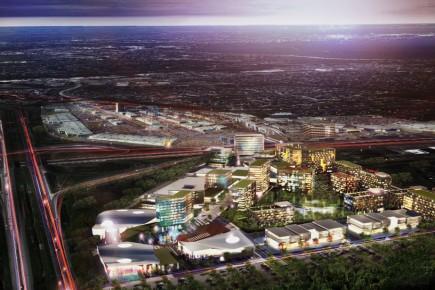 Le TOD Quartier sera aménagé sur des terrains non développés, au nord de l'autoroute 10 et à l'ouest de l'autoroute 30, près du DIX30.