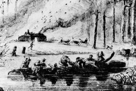 Le grand feu avait dévasté 3800 kilomètres carrés... (Archives Société historique du Saguenay, Canadian Illustrated News)