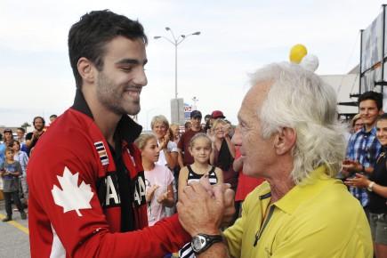 Antoine Bouchard et son ancien entraîneur du Club... (Photo Le Quotidien, Rocket Lavoie)