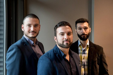Jean-Olivier Bouchard, Amir Tajkarimi et Michel Jamati, coactionnaires de Lexop.