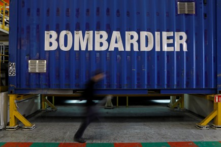An employee works on a new regional transport train at the Bombardier plant in Crespin, near Valenciennes, northern France, October 17, 2016. REUTERS/Benoit Tessier