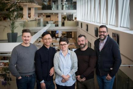 Les membres du jury : Jonathan Rouxel (Bleublancrouge), Edmund Lam (Frank + Oak), Jennifer Varvaresso (Ig2), Patrick Jacques (Publicis) et Benoit Giguère (<em>La Presse</em>)