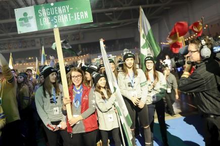 La délégation du Saguenay-Lac-Saint-Jean... (Archives Le Progrès-Dimanche, Gimmy Desbiens)