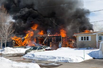 Incendie à Bécancour
