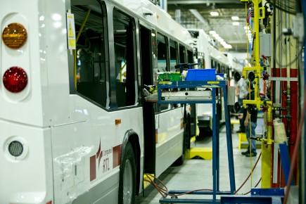 Nova Busconstruit annuellement environ 450 autobus.