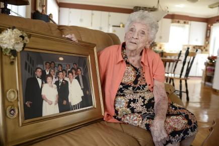 Gisèle Levasseur, une vieille maman de 91 ans,... (Le Progrès, Jeannot Lévesque)