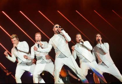 Les Backstreet Boys s'étaient vêtus de blanc pour... (Archives Le Soleil)
