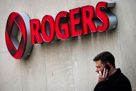 Les revenus trimestriels de Rogers ont totalisé 3,58 milliards, après avoir été de 3,49 milliards l'an dernier.