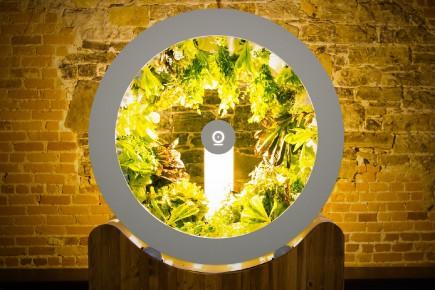 Le potager intérieur Ogarden est constitué d'une armoire en bois, sur laquelle est déposé le tambour rotatif.