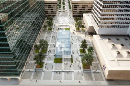 Une vue de la future Esplanade.